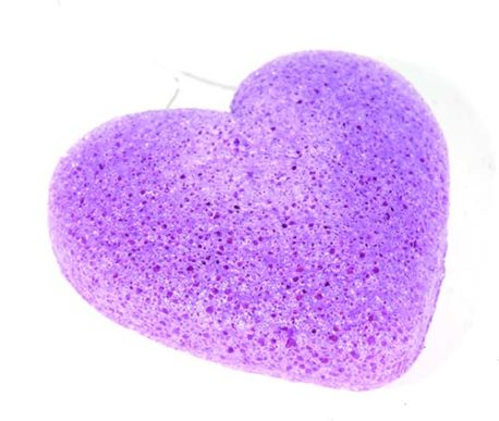 konjac spons violet purple